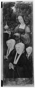De stichtster en haar dochters en de H. Maria Magdalena