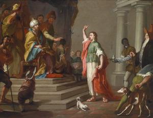 Daniël ontkent voor  koning Cyrus de macht van Baal (Danël 14:1-22)