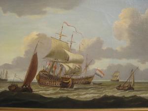 Hollandse fregatten op volle zee
