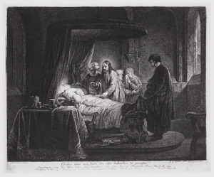 'Christus gaet met Jaïro om sijn dochterken te geneesen'