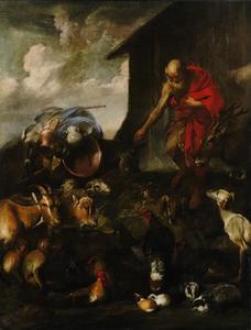 De dieren komen naar de ark van Noach (Genesis 7:1-9)