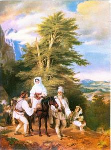 Roemeens gezin gaat op weg naar de markt