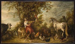 Orpheus musicerend voor de dieren