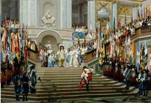 De ontvangst van de Grand Condé in Versailles