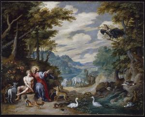 God stelt Adam aan als de rentmeester over flora en fauna (Genesis 2:15)