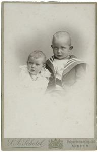 Dubbel portret van onbekende kinderen