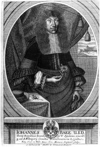 Portret van Johannes Bake (1635-1677)
