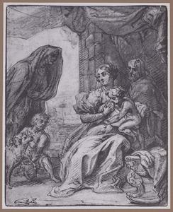 H. Familie met H. Elizabeth en het kind Johannes de Doper