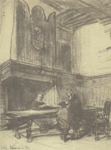De raadskamer (weeskamer) in Naarden