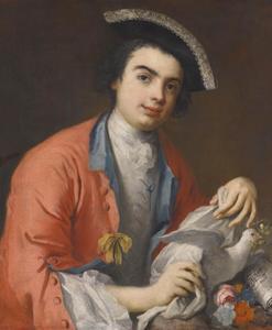 Portret van de castrato Carlo Boschi, Farinelli (1705-1782)