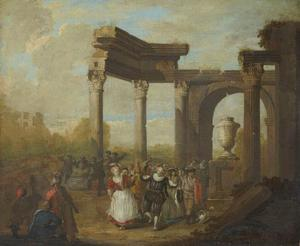 Gemaskerde dans bij Romeinse ruïnes