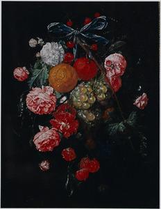 Festoen met fruit en rozen
