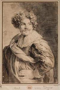 Portret van de schilder en tekenaar Simon de Vos (1603-1676)
