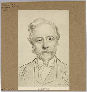 Portret van de kunstenaar B.J. Blommers