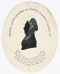 Portret van Johanna Aletta Suidhof (....-1809)