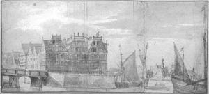 Amsterdam, de Schreiershoek (tegenwoordig: Prins Hendrikkade) gezien vanaf het IJ