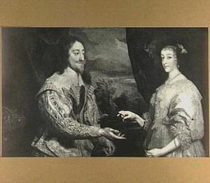 Dubbelportret van Karel I Stuart (1600-1649), koning van Engelend en Henrietta Maria de Bourbon, koningin van Engeland (1609-1669)