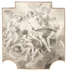 Allegorie van de schilderkunst ter ere van de schilder Pietro Testa