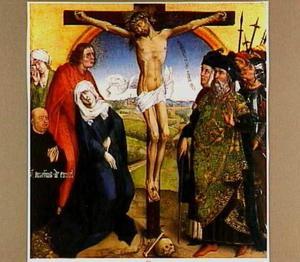 De kruisiging met de stichter Amelius de Emael (?-?)