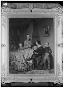 Portret van de familie van Petrus Jacobus Kipp (1808-1864) en Anna Petronella Regina Heijligers (1811-1874)