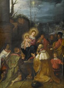 De Heilige familie en de aanbidding der wijzen