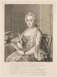 Portret van Sara Maria van der Wilp (1716-1803)