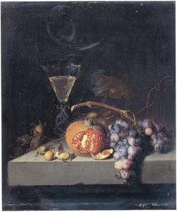 Vruchtenstilleven met een wijnglas à la façon de Vénise