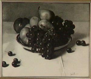 Delftse schotel met vruchten