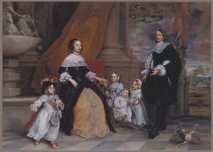 Portret van Jan Baptiste Anthoine (?-?) en zijn familie