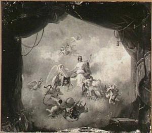 Voorstudie voor de Stadsschouwburg van Amsterdam met als titel: 'Tronende godin tussen engelen'
