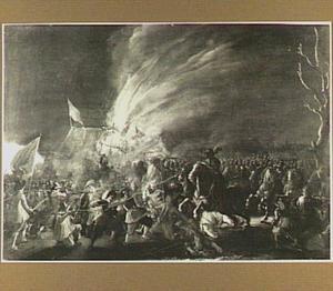 Nachtelijk gevecht tussen Hollandse ruiters en Spaanse voetknechten