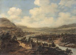 Uitgestrekt rivierlandschap
