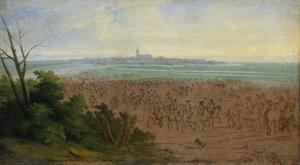 De troepen van Lodewijk XIV voor Naarden, 20 juli 1672