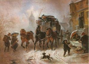 Reis met de postkoets in de winter