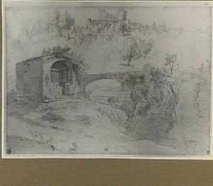 Boven: Narni, de Rocca gezien uit het noordoosten; onder: ruïnes en stenen brug