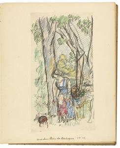 Aus dem Bois de Boulogne 1914 (authentiek)
