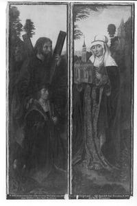 De H. Andreas met stichter (links), de H. Hedwig (rechts)