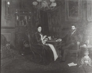 Dubbelportret van Gyula Rosenberg (1865-1914) en Lea Louise Carolina Teixeira de Mattos (1860-1936)