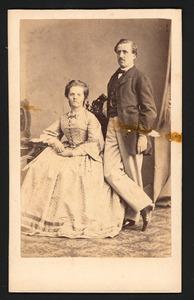 Portret van Hendrik Alexander Elias 1838-1917) en Caroline Henriette Everts  (1843-1911)