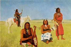 Indianen bij Fort Laramie