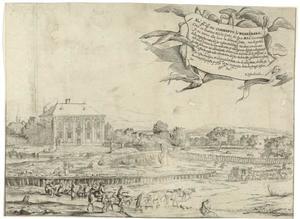 Gezicht op het zomerhuis van Johann Kunibert von Wenzelsberg (1614-1683) bij Wenen