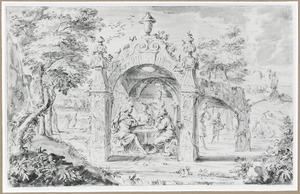 Telemachus vertelt zijn avonturen aan Calypso nadat haar nimfen zijn schip in brand hebben gestoken