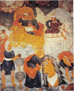 H. Philippus doopt de de Ethiopische kamerling (Hand. 8:31-38)