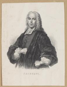 Portret van Johannes Alberti (1698-1762)