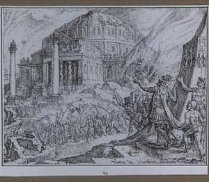 De verwoesting van de tempel in Jeruzalem onder de regering van Titus