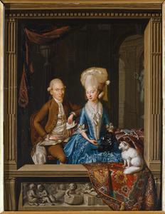 Portret van Martinus Carolus van Beurden (1753-1788) en Lucia Theresia van Lilaar van Stoutenbergh (1752-1819)