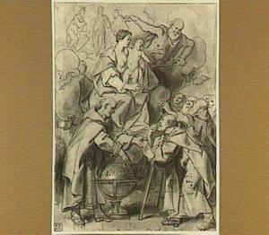 Berthold II instrueert de Carmelieten hun Orde in Europa te verspreiden