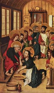 Christ washes the feet of the apostles
