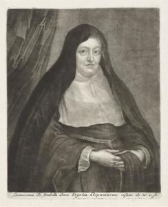 Portret van de landvoogdes Infanta Isabella Clara Eugenia (1566-1633) als weduwe