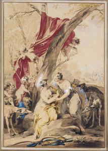 Callisto verleid door Jupiter in de gedaante van Diana